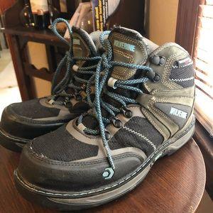Wolverine Waterproof Nubuck Leather Boots Camp Toe
